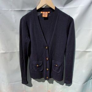 Tory burch navy blue/black Cardigan gold buttons